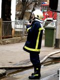 Fireman. On duty Royalty Free Stock Photo