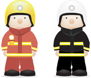 Fireman. Vector character illustration of a fireman (british and american Royalty Free Stock Photography
