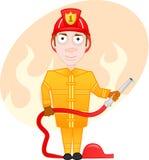 Fireman. Vector cartoon character series - fireman Royalty Free Stock Images