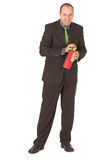 Fireman. Businessman ready to put out corporate fires Stock Photos