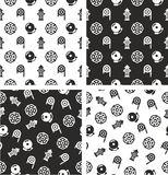 Fireman Aligned & Random Seamless Pattern Set. This image is a illustration and can be scaled to any size without loss of resolution Stock Photography