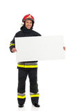 Fireman announcement. Royalty Free Stock Photo