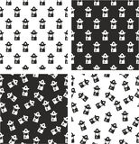 Fireman Avatar Aligned & Random Seamless Pattern Set. This image is a illustration and can be scaled to any size without loss of resolution Royalty Free Stock Image