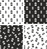 Fireman Avatar Big & Small Aligned & Random Seamless Pattern Set. This image is a illustration and can be scaled to any size without loss of resolution Stock Photos