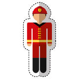 Fireman avatar character icon. Illustration design Stock Images