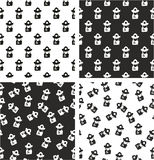 Fireman Avatar Freehand Aligned & Random Seamless Pattern Set. This image is a illustration and can be scaled to any size without loss of resolution Royalty Free Stock Photo