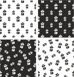 Fireman Avatar Freehand Big & Small Aligned & Random Seamless Pattern Set. This image is a illustration and can be scaled to any size without loss of resolution Stock Images