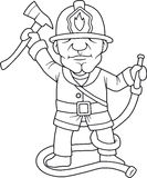 Fireman with an ax Stock Photography