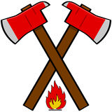 Fireman axe Royalty Free Stock Photo