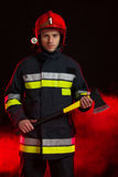 Fireman With An Axe Royalty Free Stock Images