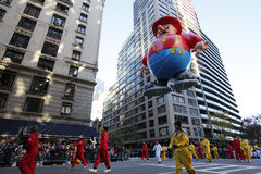 Fireman balloon in Macy's parade Stock Image