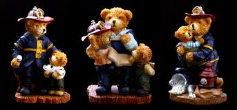 Fireman Bears Stock Images