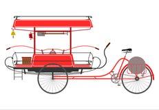 Fireman bike. Retro silhouette on a white background Stock Photo