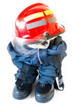 Fireman boots. Isolated on white background Stock Photography