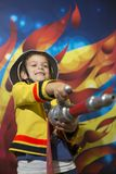 Fireman boy Royalty Free Stock Images