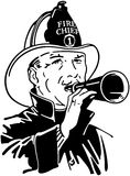 Fireman With Bullhorn Royalty Free Stock Photography