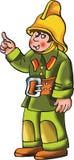 Fireman Cartoon Character  Illustration. Fireman Cartoon Character Vector Illustration Royalty Free Stock Photography