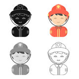 Fireman cartoon icon. Illustration for web and mobile design. Fireman cartoon icon. Illustration for web and mobile Stock Photos