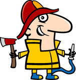 Fireman cartoon illustration Royalty Free Stock Photography