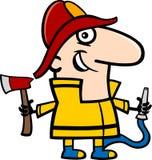 Fireman cartoon illustration Royalty Free Stock Photography