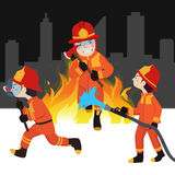 Fireman collection  illustration. Character Stock Photos
