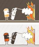 Fireman colored cartoon Stock Photography