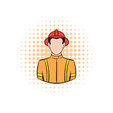 Fireman comics icon. On a white background Royalty Free Stock Photography