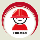 Fireman design. Over beige background, vector illustration Royalty Free Stock Photo