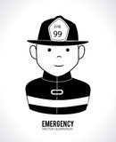 Fireman design. Over white background, vector illustration Royalty Free Stock Photo