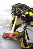 Fireman equipment. Equipment used by firemen on the job Royalty Free Stock Photo