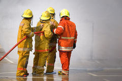 Fireman. Firefighters training. royalty free stock images