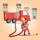 Fireman format Stock Photo