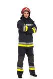 Fireman, full length Stock Photography