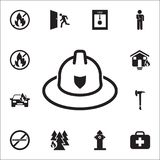 Fireman hat icon. Detailed set of fire guard icons. Premium quality graphic design sign. One of the collection icons for websites,. Web design, mobile app on Royalty Free Stock Photos