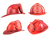 Fireman helmet. From various angles 3d illustration Royalty Free Stock Image