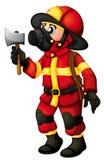 A fireman holding an axe Royalty Free Stock Photos