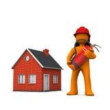 Fireman House Extinguisher Stock Image