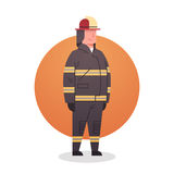 Fireman Icon Fire Fighter Professional Worker Occupation. Flat Vector Illustration Royalty Free Stock Photos