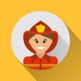 Fireman icon Stock Photo