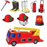 Fireman Icons. Vector illustration of nine colored fireman icons Stock Photography