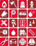 Fireman icons Royalty Free Stock Image