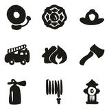 Fireman Icons Freehand Fill. This image is a illustration and can be scaled to any size without loss of resolution Royalty Free Stock Photo