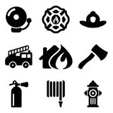 Fireman Icons Royalty Free Stock Photo