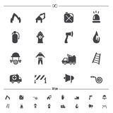Fireman icons vector. Illustration of fireman icons vector Stock Photo