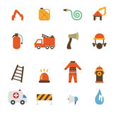 Fireman icons vector Royalty Free Stock Images
