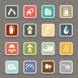 Fireman icons vector Stock Photography