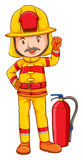 Fireman. Illustration of a close up fireman Stock Photos