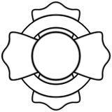 Fireman Insignia Illustration Stock Image