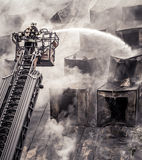 Fireman on ladder Royalty Free Stock Images