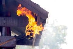 Fireman make burn property Royalty Free Stock Photo